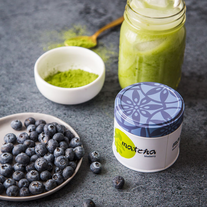 Blueberry Matcha Smoothie (dairy-free)