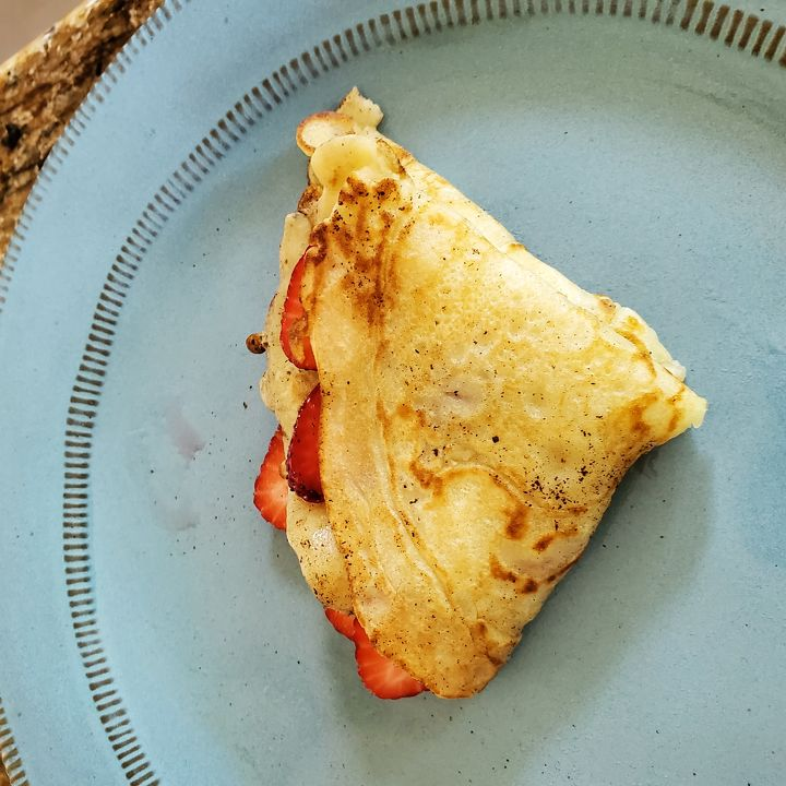 Wild Strawberry Crepes