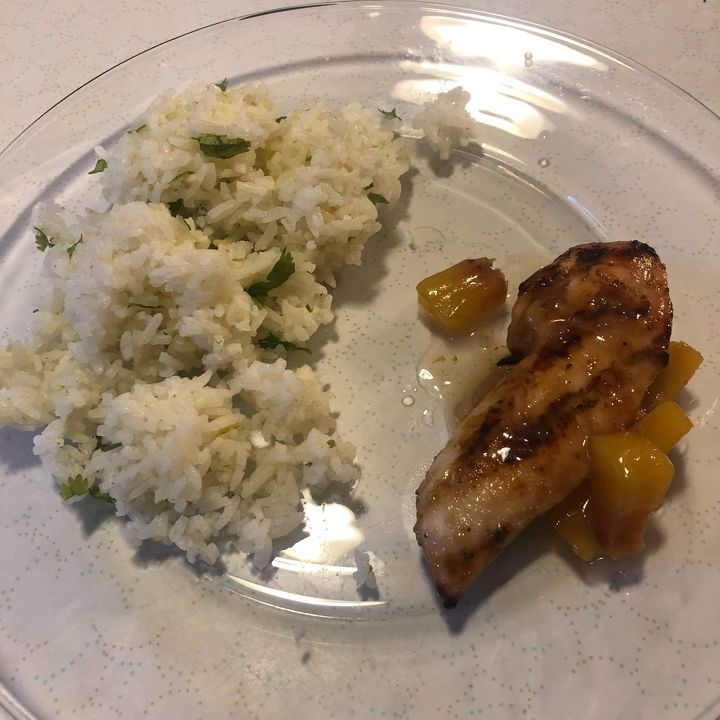 Peach Glazed Grilled Chicken
