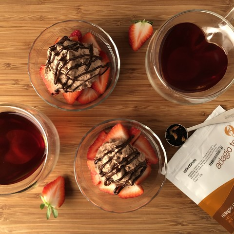 Valentines Infused Chocolate Mousse Cream