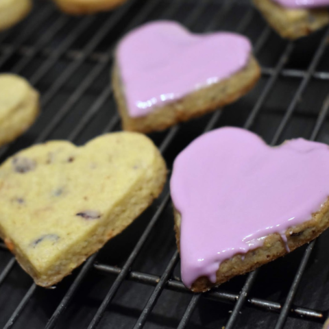 Iced Cupid's Cup Sugar Cookie Hearts