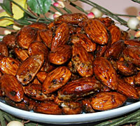 Tea Glazed Almonds