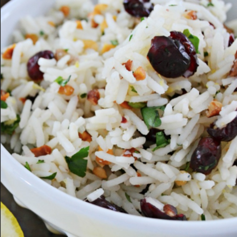 Cranberry Tea and Mint Rice
