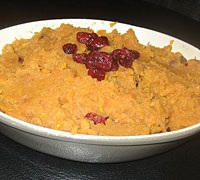 Cranberry Sweet Potato Mash