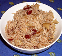Cranberry Tea Rice and Noodle Pilaf
