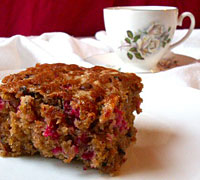 Double Cranberry Crumb Cake