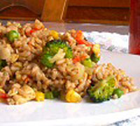 Golden Veggie Fried Rice