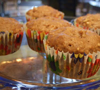 Apple Muffins with Dragonwell Glaze