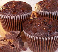 Diabetic Chocolate Spearmint Muffins