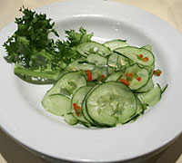 Spearmint and Cucumber Salad